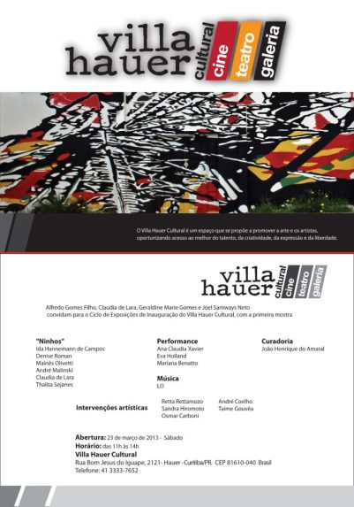 villa hauer cultural - divulgação