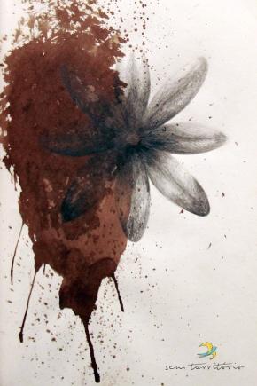 terra e flor/ grafite e aqualine em molesquine/ original indisponível/ sem territorio