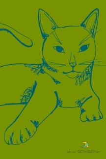 gato/ nanquim e photoshop/ original indisponível/ semterritorio