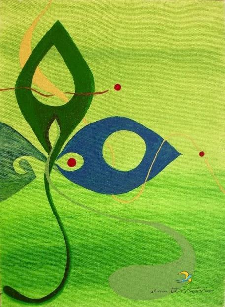 verde/ acrilica em tela/ original vendido/ sem territorio