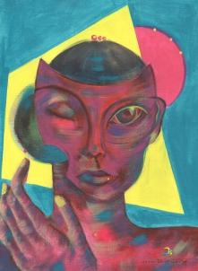 rosa/ tinta acrilica em papel figueiras/ 290gm/ 24x33cm/ Original a venda/ semterritorio