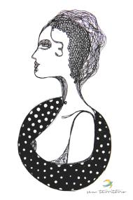 a moça/ nanquim em molesquine/ original indisponível/ semterritorio