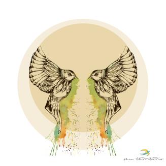 ilustração para cd VIBRAMUNDO/nanquim, aquarela e photoshop/original indisponível/semterritório