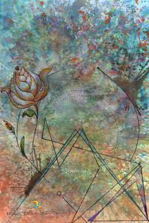 o gaio da roseira/ aquarela, nanquim, lápis de cor e nanquim em papel canson 300gm/ 21x30cm/ original indisponível/ semterritorio