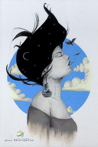 tatuagem para mariane/ grafite, lápis de cor e caneta posca em papel canson 300gm/ 30x42cm/ original indisponível/ semterritorio