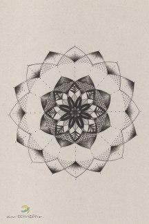 mandala/ nanquim em papel reciclado 80gm/ 21x30cm/ original disponível para venda/ sem territorio