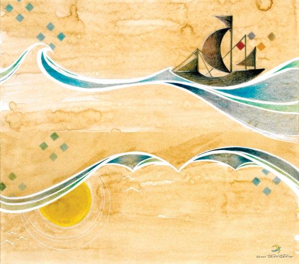 ilustração para cd Athur Matos - Aracaju - se/ café, nanquim, lápis de cor e maquiagem/ original indisponível/ semterritrio