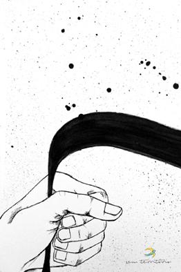 Ilustração para capa do livro de Zinho Trindade - Tarja Preta