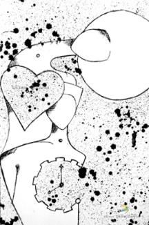 Ilustração para livro de Zinho Trindade - Tarja Preta