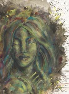 verde / tinta acrilica em papel figueiras/ 290gm/ 24x33cm/ Original a venda/ semterritorio
