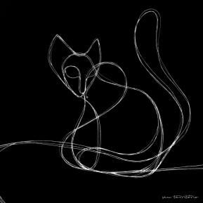 gato/ nanquim em papel sulfite 180gm/ 20x30cm/original indisponível/semterritorio