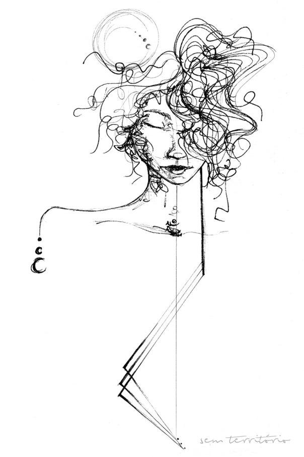 Ilustração de Capa para livro de Helena Ferreira - Um poema para Helena