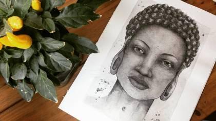 Mulher quando olha/ aquarela em papel montval 300gm/ 21x30cm/ sem territorio