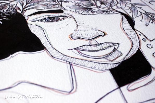 detalhe de ilustração feita em parceria com frase de Nívea Sabino