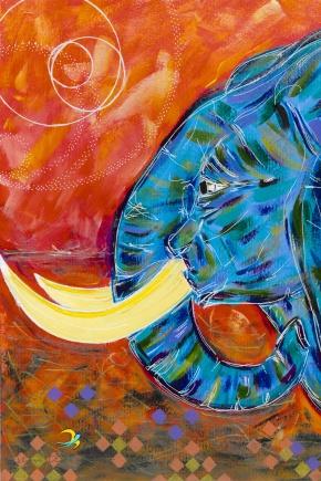 Elefante azul para Victória