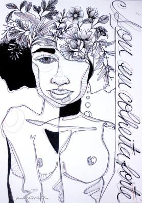 Ilustração feita em parceria com frase de Nívea Sabino